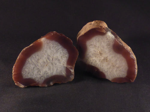 Polished Mozambique Agate Nodules Matching Pair - 85mm, 410g