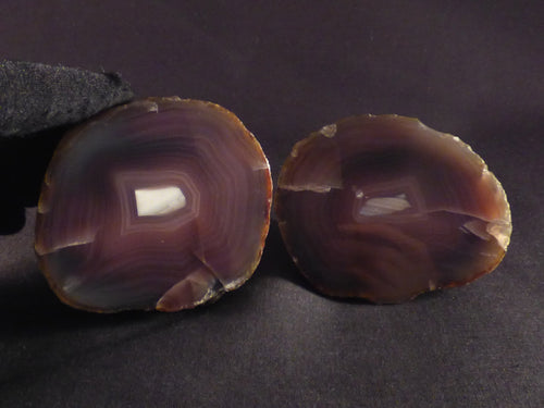 Polished Mozambique Agate Nodules Matching Pair - 63mm, 316g
