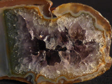 Polished Mozambique Rainbow Amethyst Agate Geode - 80mm, 142g