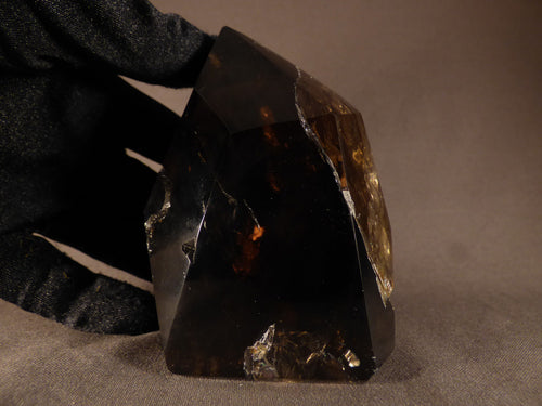Madagascan Smoky Quartz Polished Standing Point - 89mm, 510g