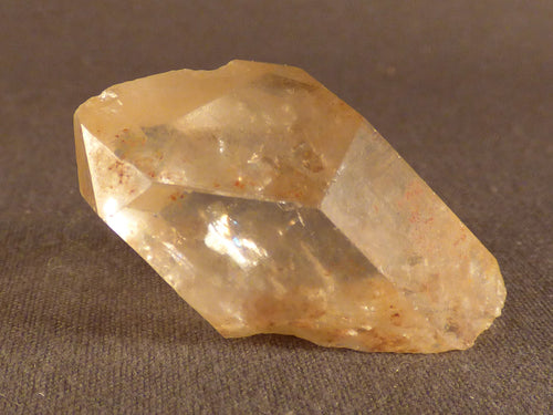 Natural Rainbow Congo Citrine Crystal Point - 33mm, 18g