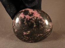 Madagascan Rhodonite Freeform Palm Stone  - 65mm, 210g