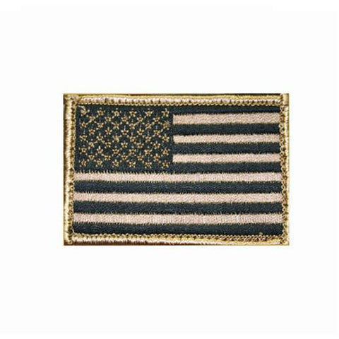 "Blackhawk - Patch, American Flag Tan-Black, 2"" x 3"" USA"