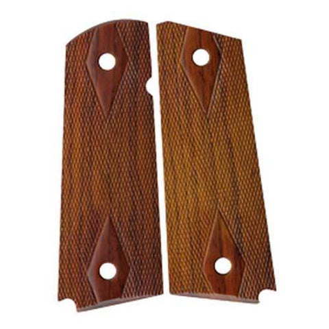 Chip McCormick - 1911 Rosewood Grips, Double-Diamond Checkered, Slim Carry