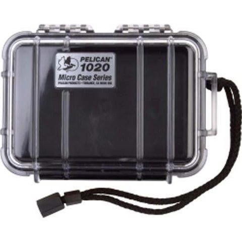 "Pelican Products - 1020 Black & Clear Lid w- Rubber liner. Int. Dim: 5.3""x3.6""x1.7"""