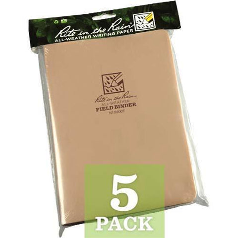 "Rite in the Rain - FIELD BINDER - 1-2"" - TAN - HEADER"