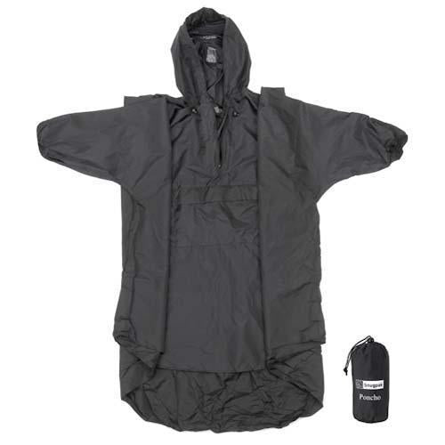 Snugpak - Patrol Poncho, 14 oz, One Size Fits All, Black