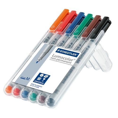 Staedtler - Overhead pen Lumocolor, M non-permanent 6 pieces