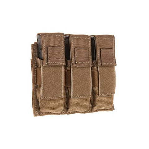 Tac Shield - Universal Pistol, Triple, Holds (3) Single or Double Stack Magazines, Coyote