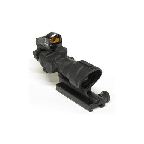 Trijicon - ACOG 4x32, Ctr Ill Amber Crosshair .223 Ballistic Reticle, TA51 Mount, Backup Iron Sights-Dust Cover