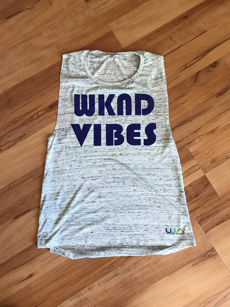 Women's WKND VIBES Muscle tank