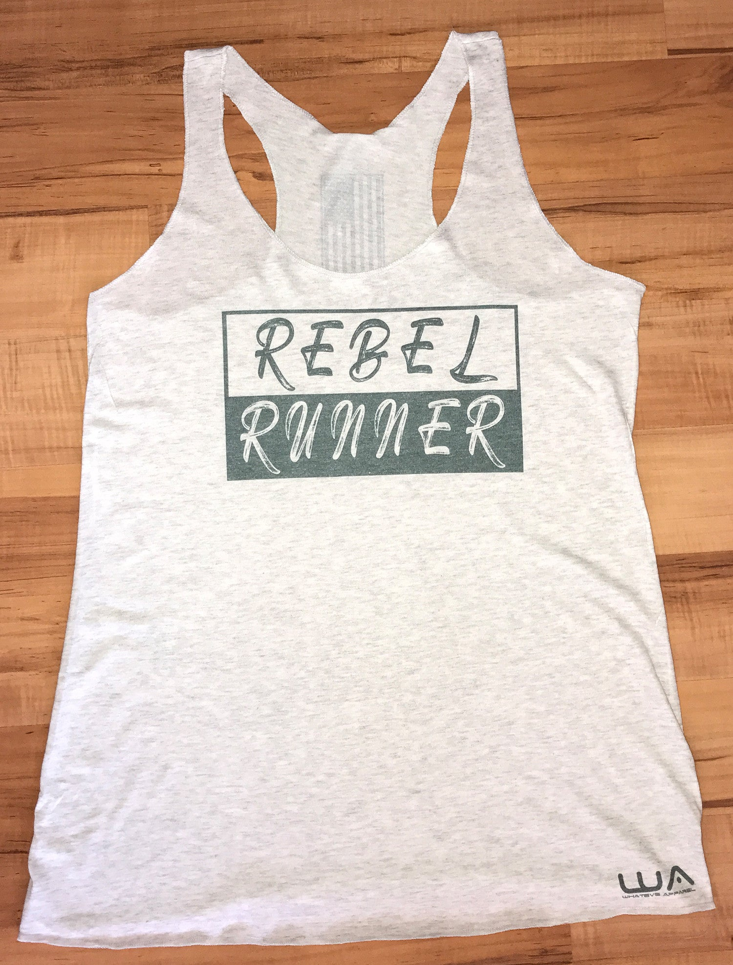 Women's Rebel Runner Tank - White Fleck