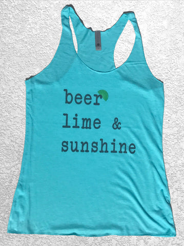 Women's BEER LIME & SUNSHINE tank