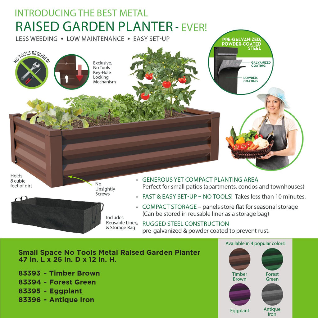 Sundase™ Raised Planter Boxes Metal Above Ground Garden Bed for Vegetables