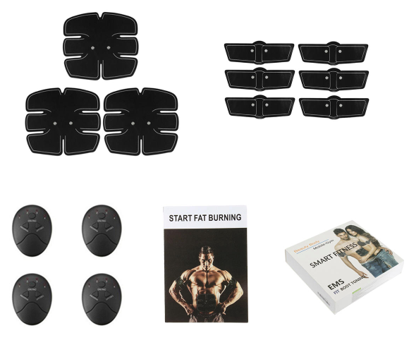 EMS Muscle Stimulator 15Pcs/Set Training Hip Buttocks Exercise Trainer Abdominal Arm Full Body Muscle Toner Body Shape Sports Smart Fitness ABS