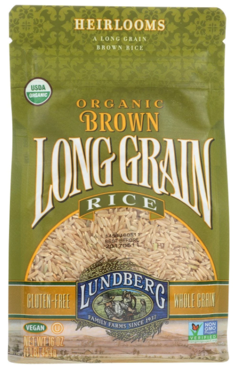 Bulk 6 pack 1LB Long Grain Brown Rice Bulk (6 x 1LB packs) ideal for instant pot rice and healthy rice by Lundberg Farms