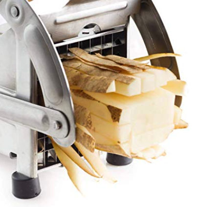 CastleGoods™ Potato Cutter French Fry & Vegetable Slicer with Two Blade Size Stainless Steel Design