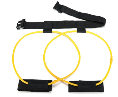 Sundase™ Resistance Band Thera Band for Exercise Stretch Training with Hip Belt 120cm 10LB