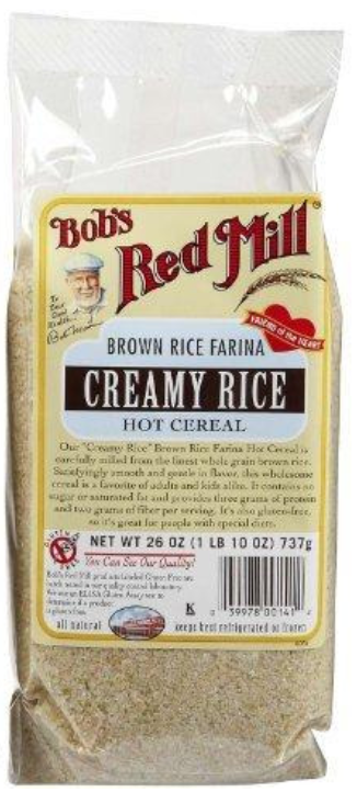 Bulk Bob's Red Mill Brown Rice Farina Creamy Rice Hot Cereal Gluten Free (4x26 Oz)