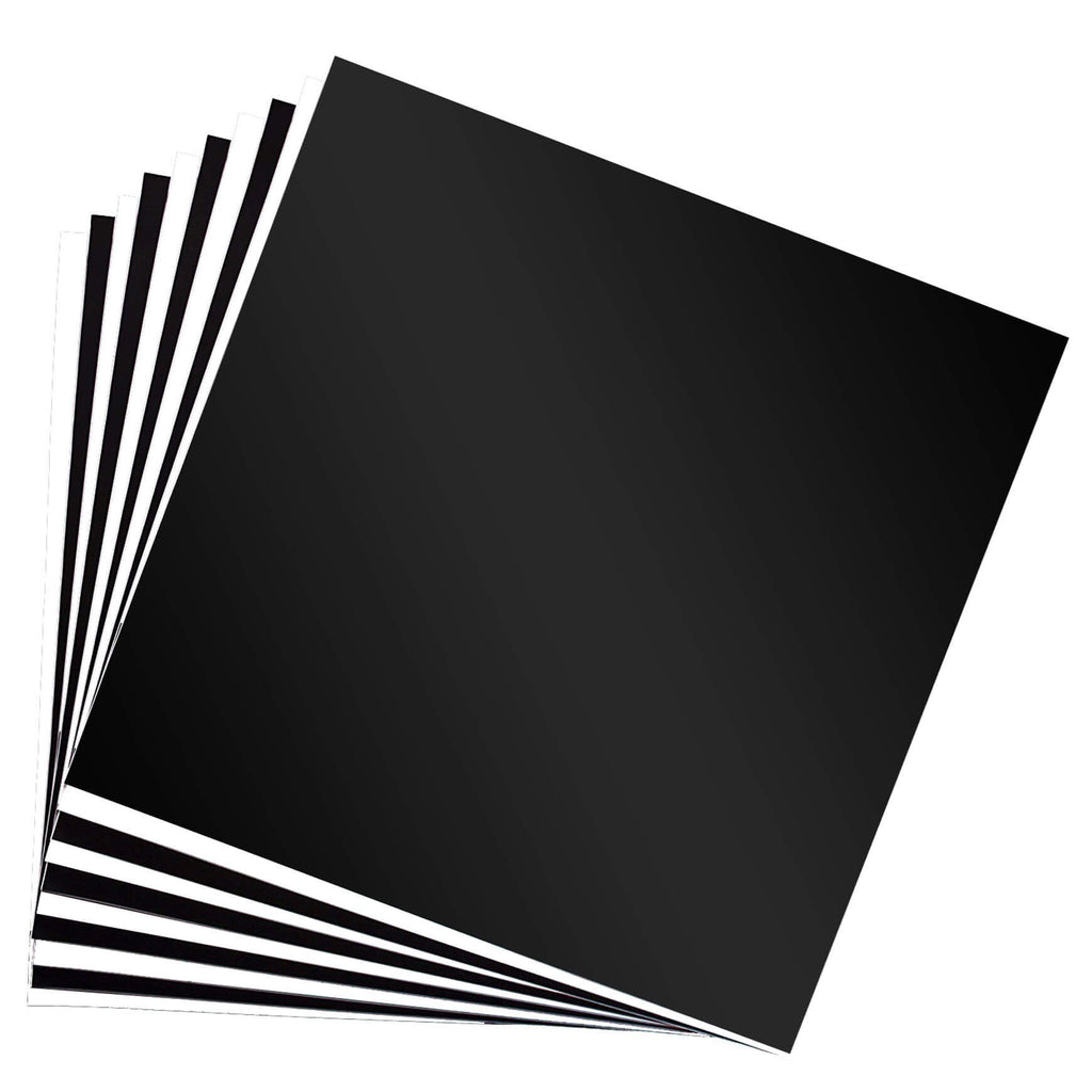 Black and White permanent vinyl sheets fanned out