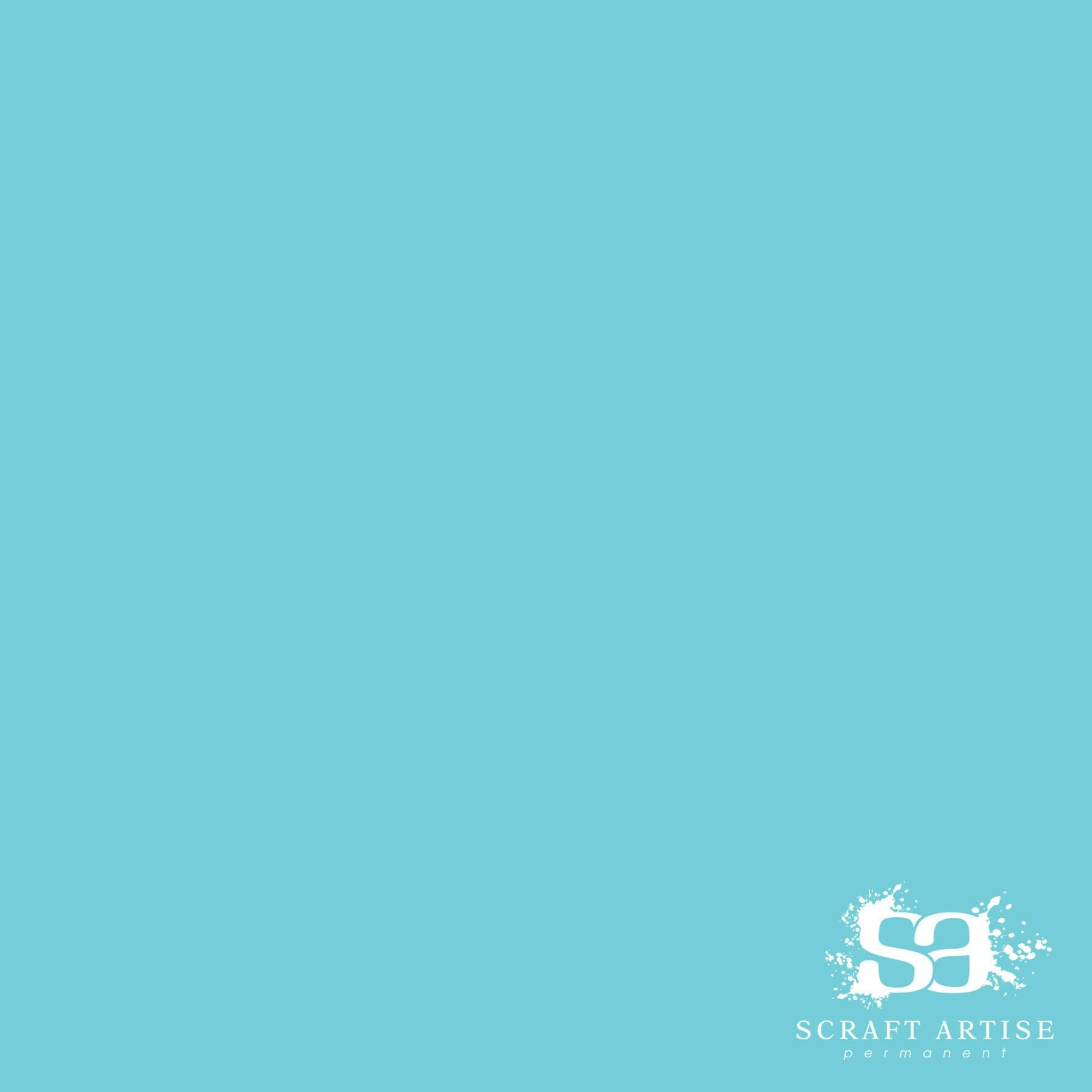 Scraft Artise Turquoise Matte Permanent Adhesive Craft Vinyl 12 x 12 Sheets - 10 Pack