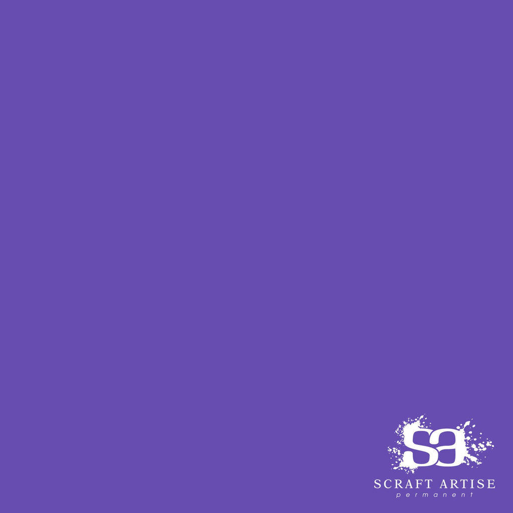 Scraft Artise Purple Matte Permanent Adhesive Craft Vinyl 12 x 12 Sheets - 10 Pack