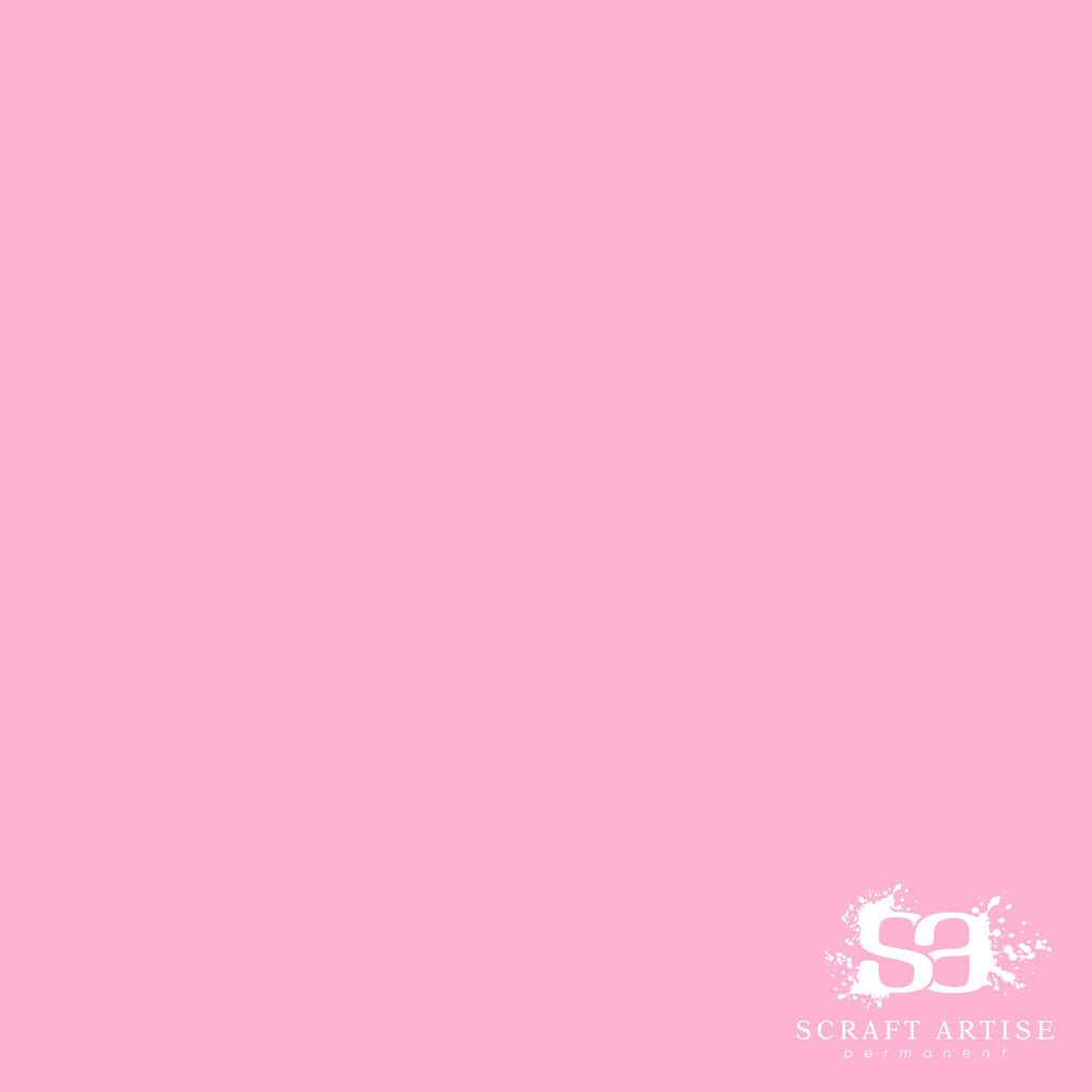 Scraft Artise Light Pink Matte Permanent Adhesive Craft Vinyl 12 x 12 Sheets - 10 Pack