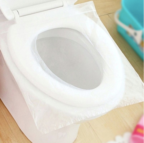 CastleGoods™ Toilet Seat Covers Eco-Friendly Disposable Biodegradable Flushable Toilet Seat Covers for Kids, Toddlers and Adults for Use During Travel, Potty Training (1 x 10pack)
