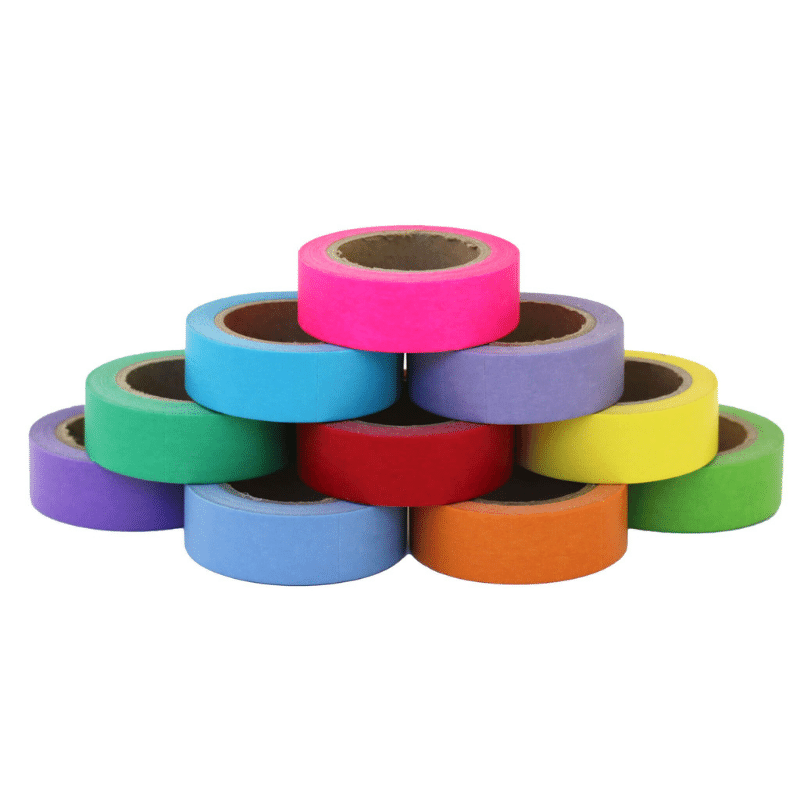 10 Rolls Washi Tape Candy Rainbow (5/8 in x 33 ft)