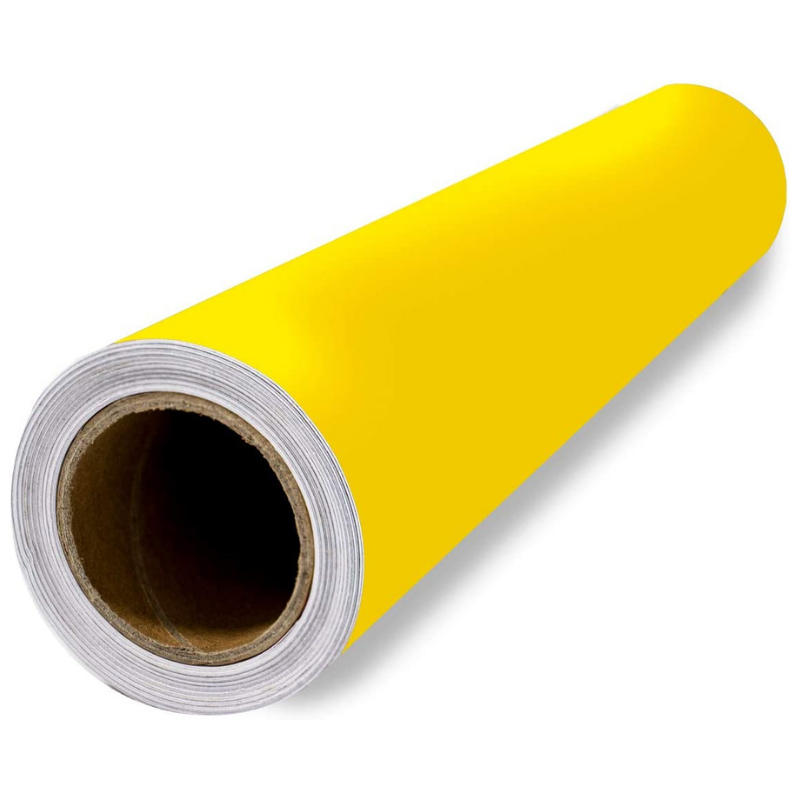 Scraft Artise Indoor Outdoor Permanent Adhesive Yellow Matte Vinyl Rolls