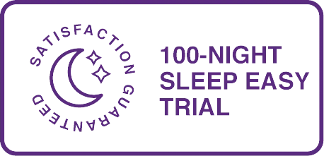 100 night sleep trial badge