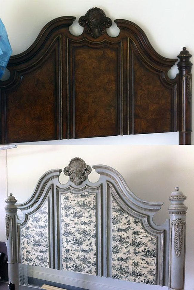 Before and After Thrift Store Headboard Makeover