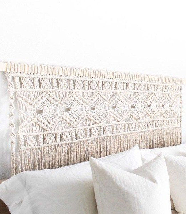 DIY Macrame Headboard
