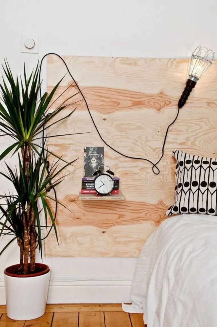 DIY Plywood Minimalist Headboard