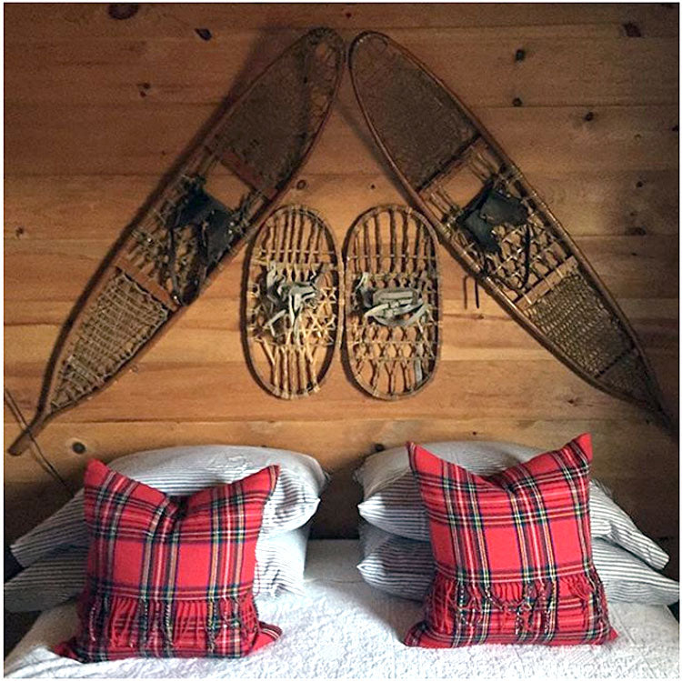 DIY Snowshoe Headboard