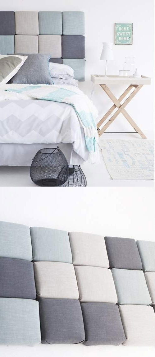 DIY Square Pillow Headboard