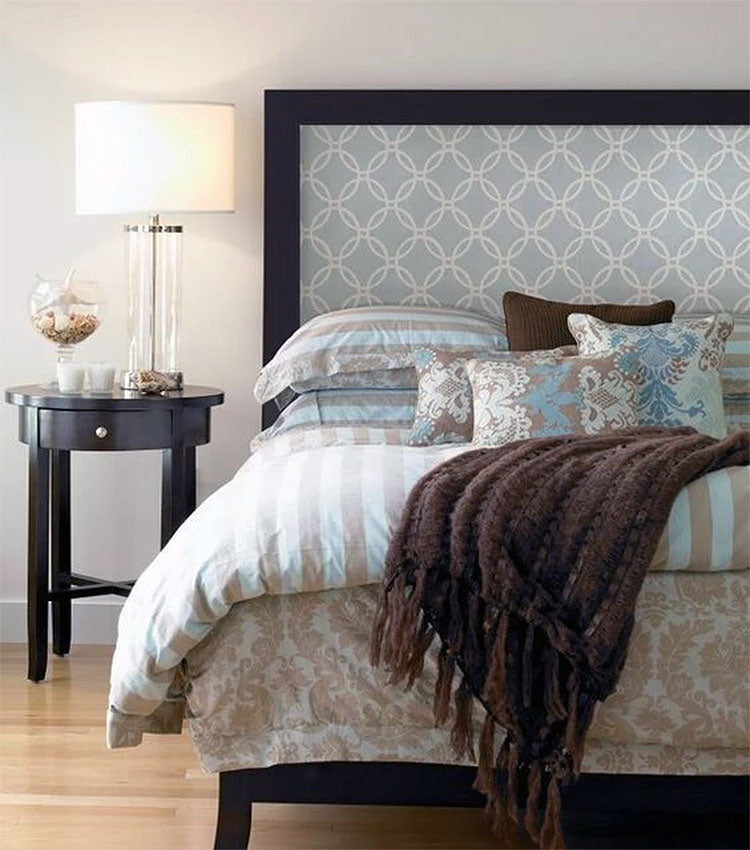 DIY Wallpaper Headboard