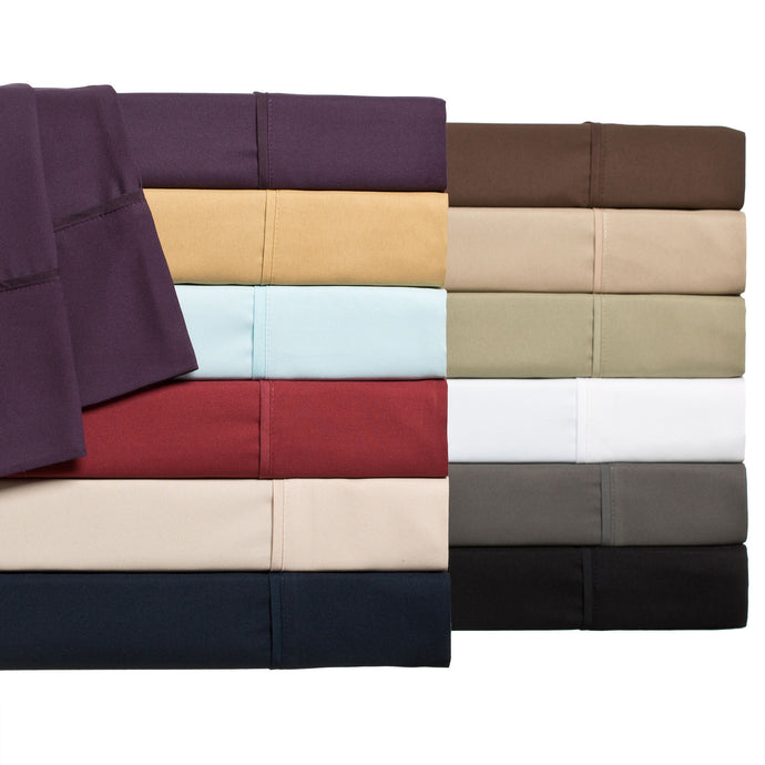 Bed sheets Canada in in White, Black, Burgundy, Cream, Grey, Navy Blue, Red, Purple, Green & Brown