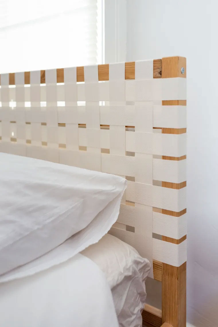 Woven Canvas DIY Ikea Hack Headboard