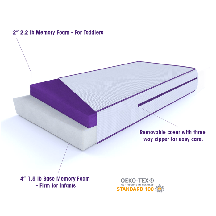 "6"" Memory Foam Crib Mattress"
