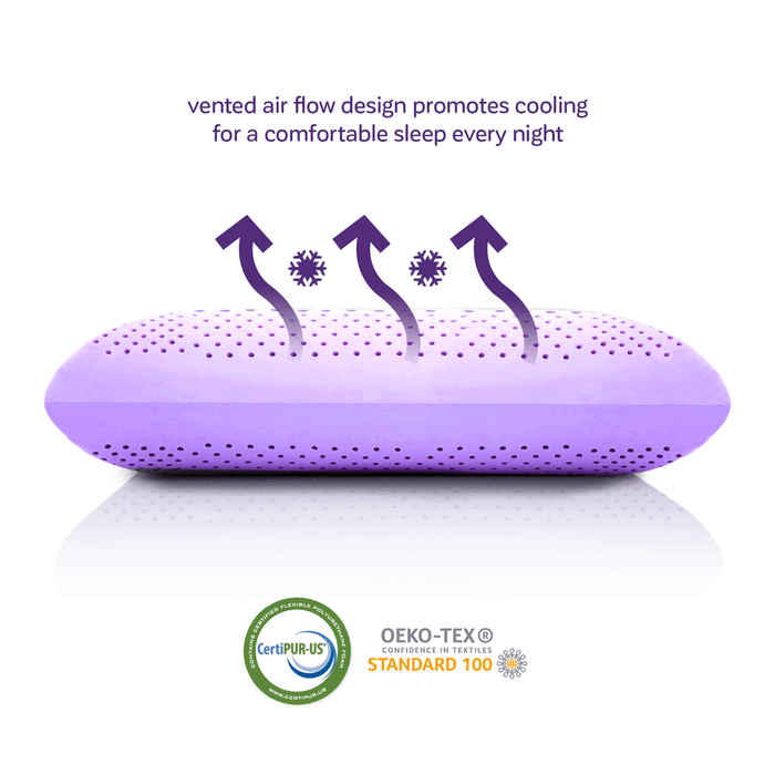 Vented air flow allows for a comfortable breathable sleep every night
