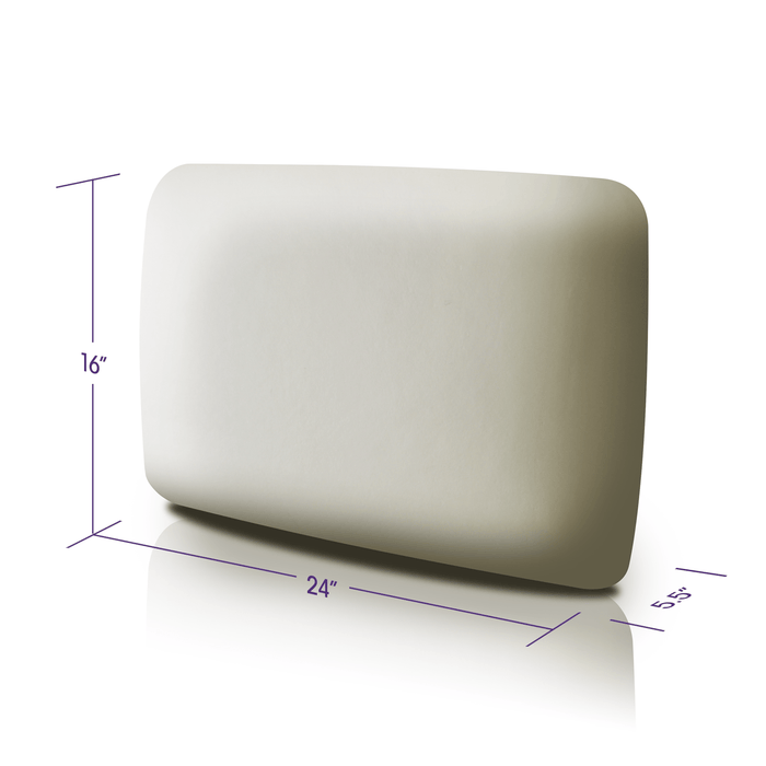 "Memory Foam Pillow Premium Foam dimensions are 16"" by 24"""