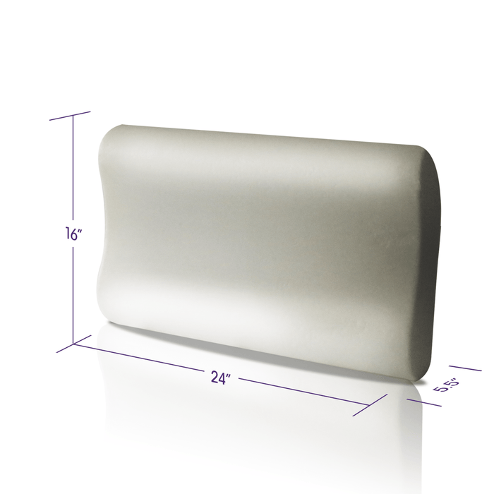 "The Dimensions are 16"" by 24"" for the Memory Foam Pillow with Erganomic Contouring Premium Cooling Foam"