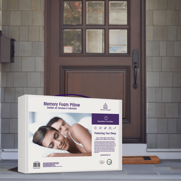 The Memory Foam Pillow with Premium Cooling Gel Pad comes right to your door