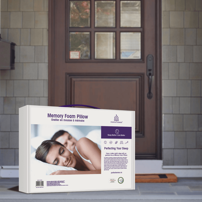 Memory Foam Pillow with Ergonomic Contouring Cooling Gel Pad gets delivered right to your door