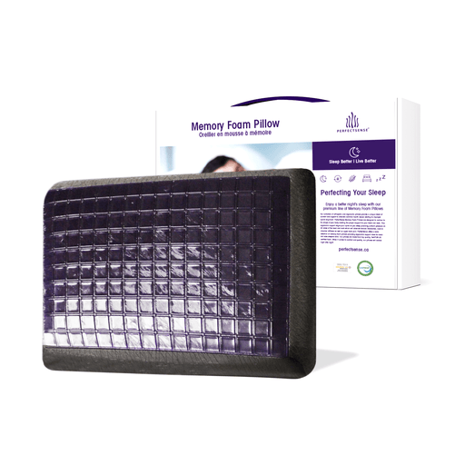 Memory Foam Charcoal Mineral Pillow with Cooling Gel Pad