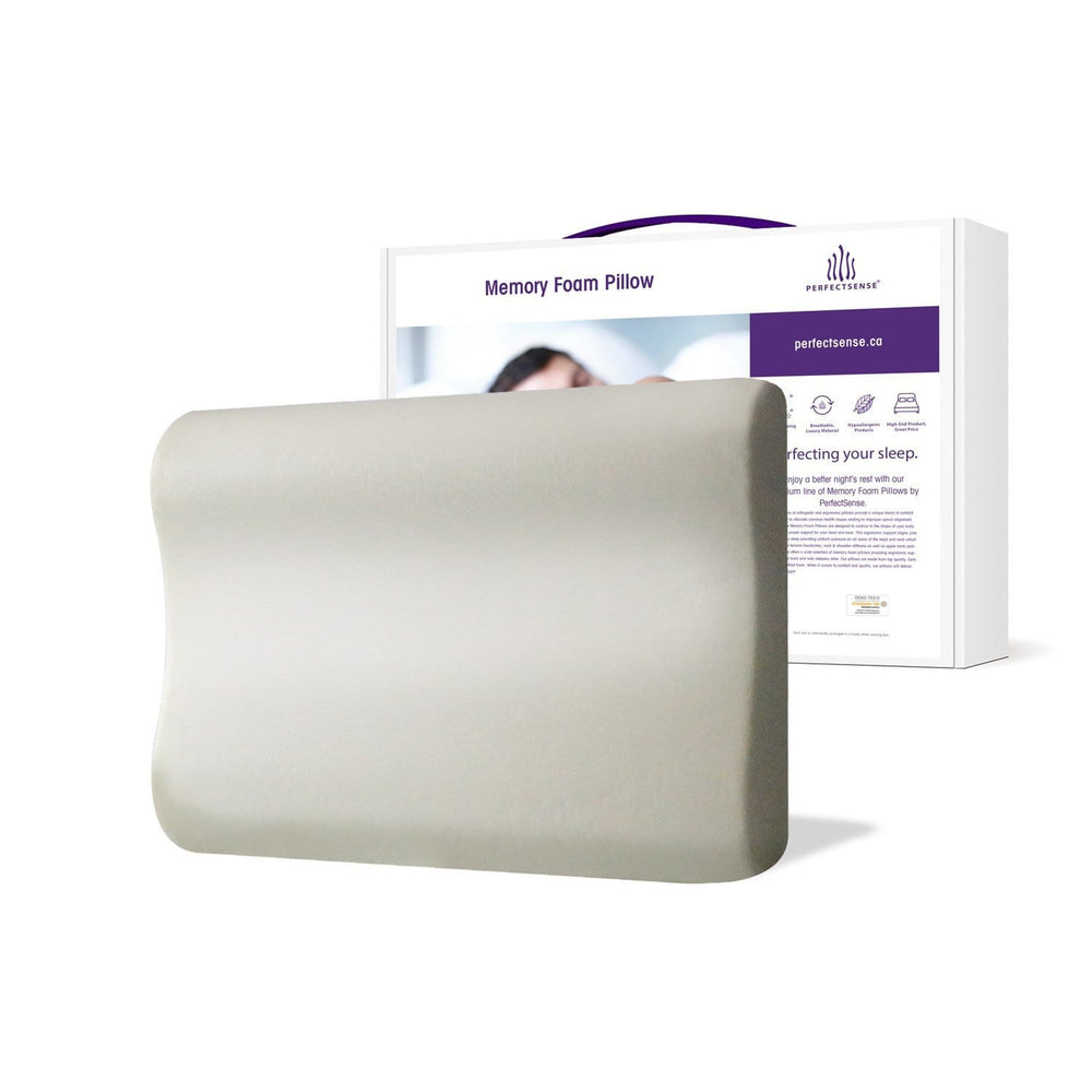 Memory Foam Pillow with Erganomic Contouring Premium Cooling Foam and Box