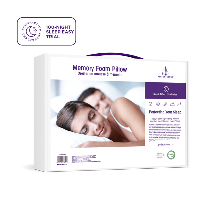 The Box for Memory Foam Pillow with Erganomic Contouring Premium Cooling Foam