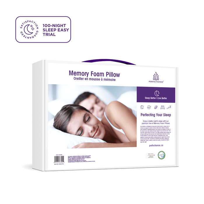 Memory Foam Pillow with Premium Cooling Gel Pad Box