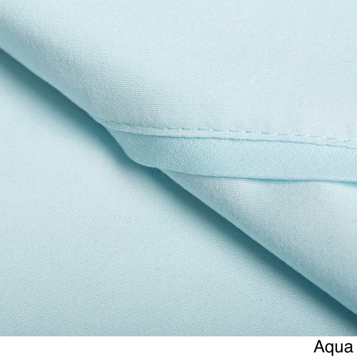 Duvet Cover Set with Shams 1500 Thread Count Aqua